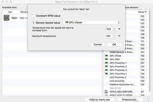 Macs Fan Control setting fan temperature profile