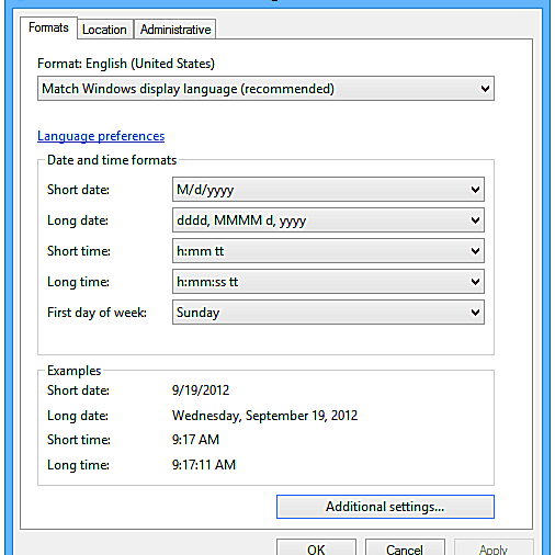 List of Control Panel Applets in Windows