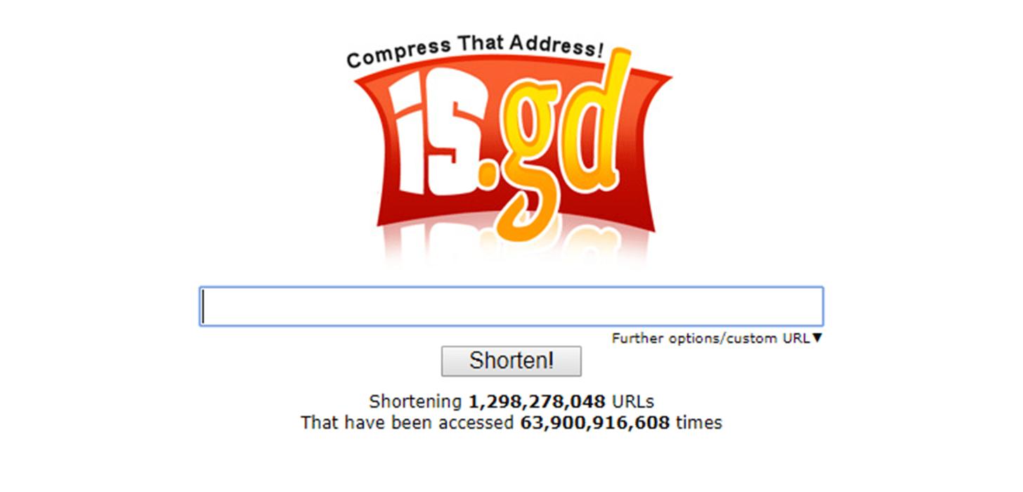 is.gd website screenshot