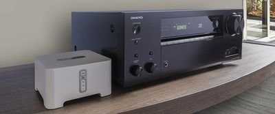 Onkyo home theater receiver in household