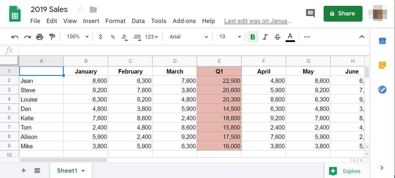 How to Share Google Sheets