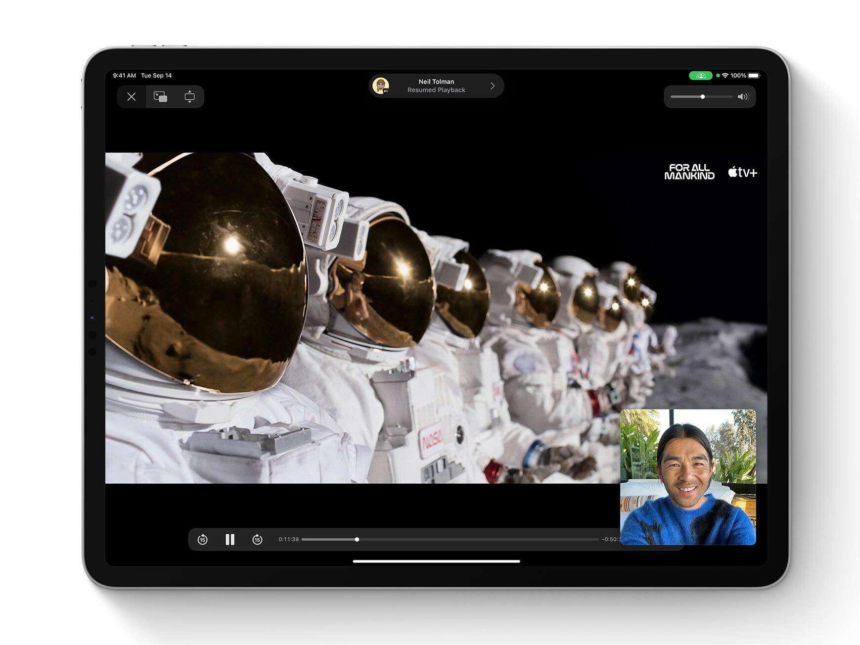 A screenshot from iPadOS 15.