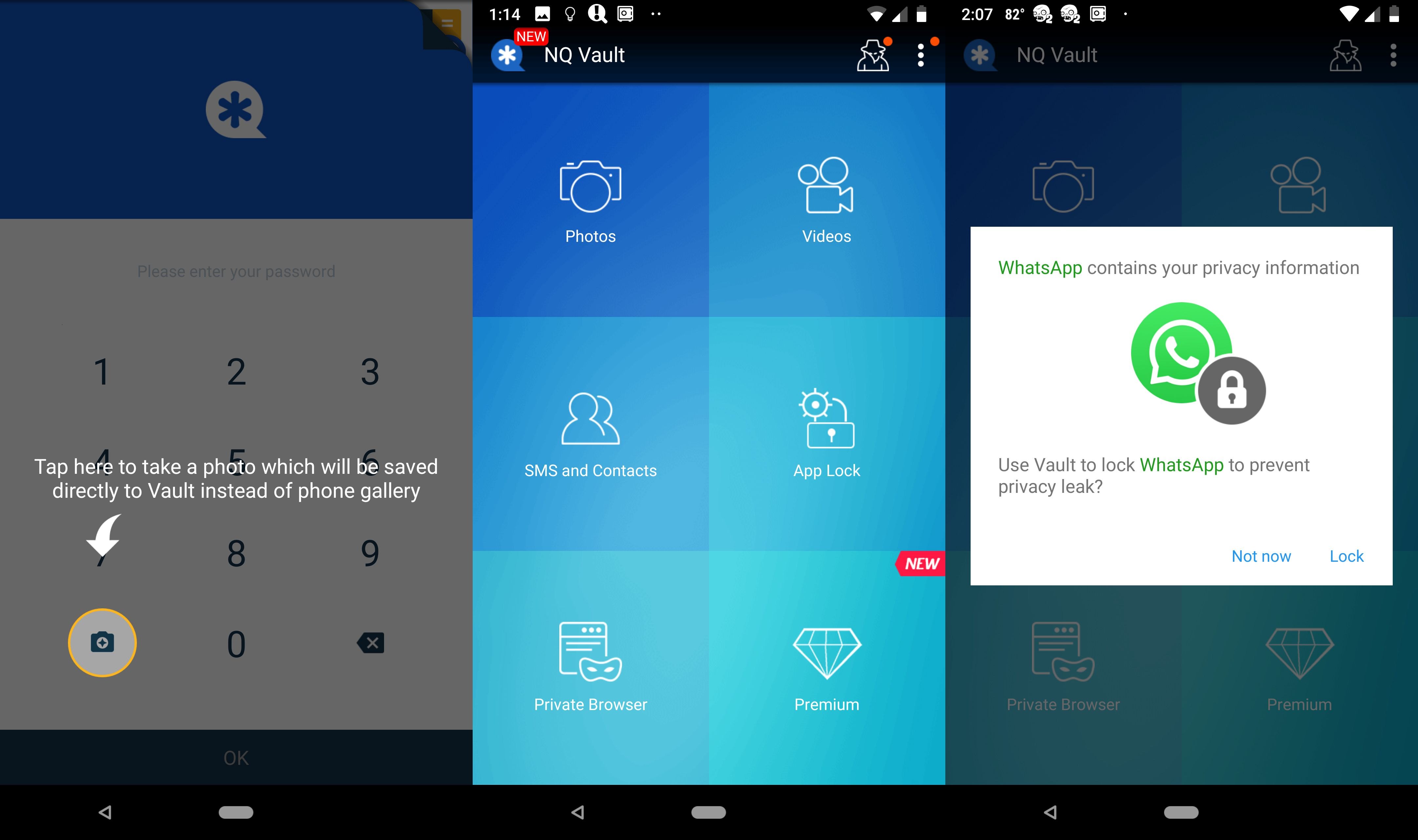 Image result for Vault-Hide SMS,Pics & Videos,App Lock, Free backup android app pic