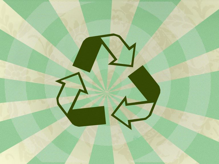 Image of a green recycling symbol
