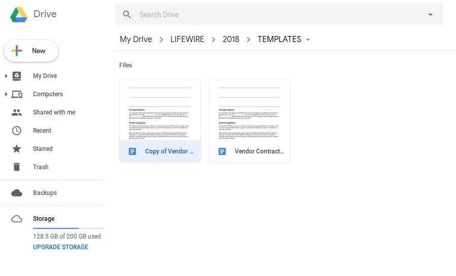 Screenshot Of A Newly Copied File In Google Docs