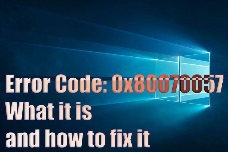 Error Code 0x80070057 header