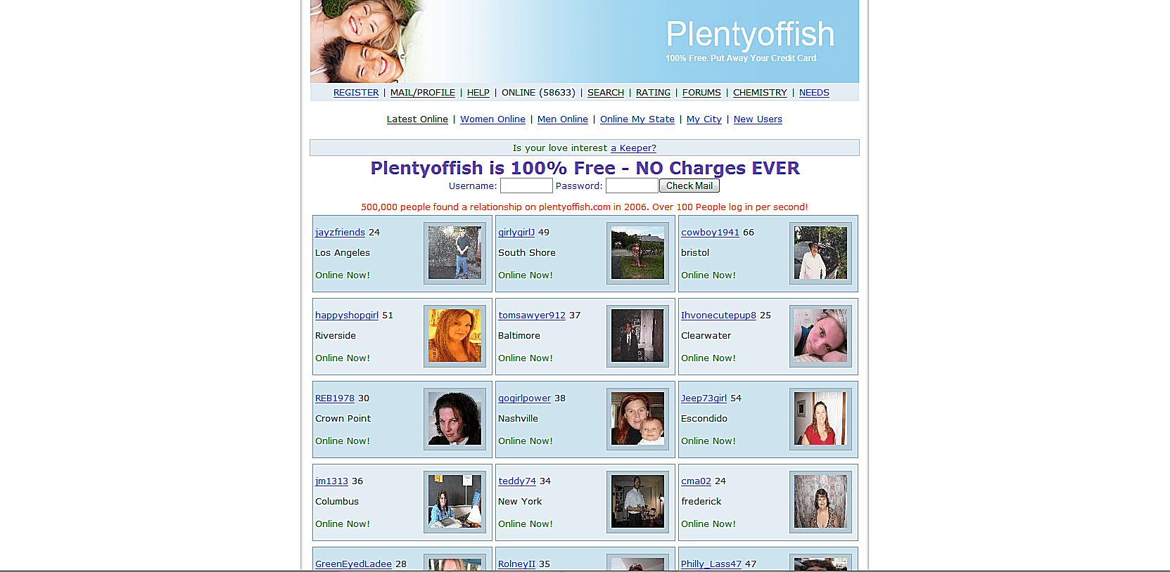 Plentyoffish free online dating sites