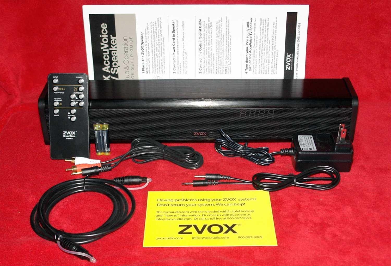 The ZVOX AV200 AccuVoice TV Speaker Makes Voices and Dialog
