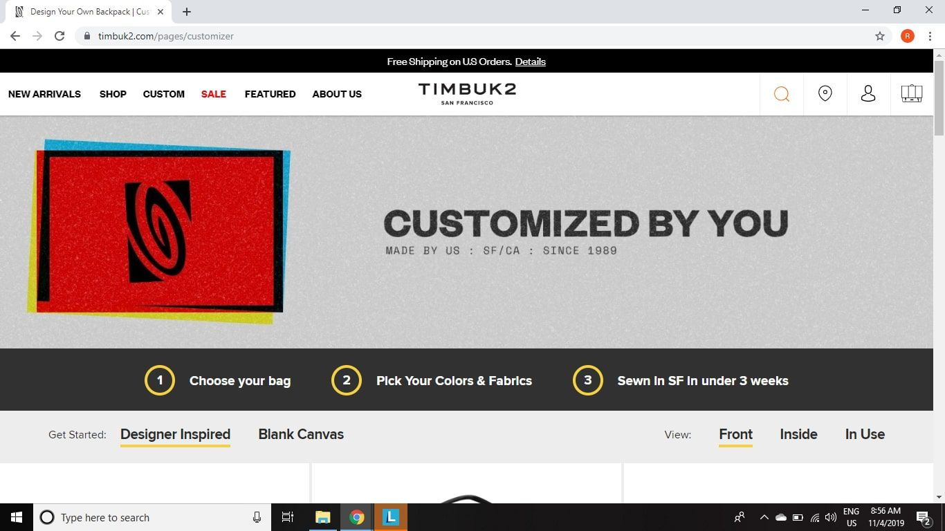 Create your own custom laptop bag with Timbuk2 Bag Builder