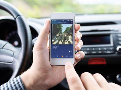 Using Pandora app on iPhone in car