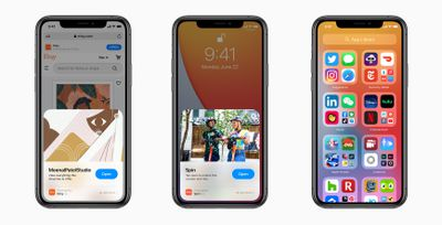 Screenshots of Apple's App Clips feature on iPhone