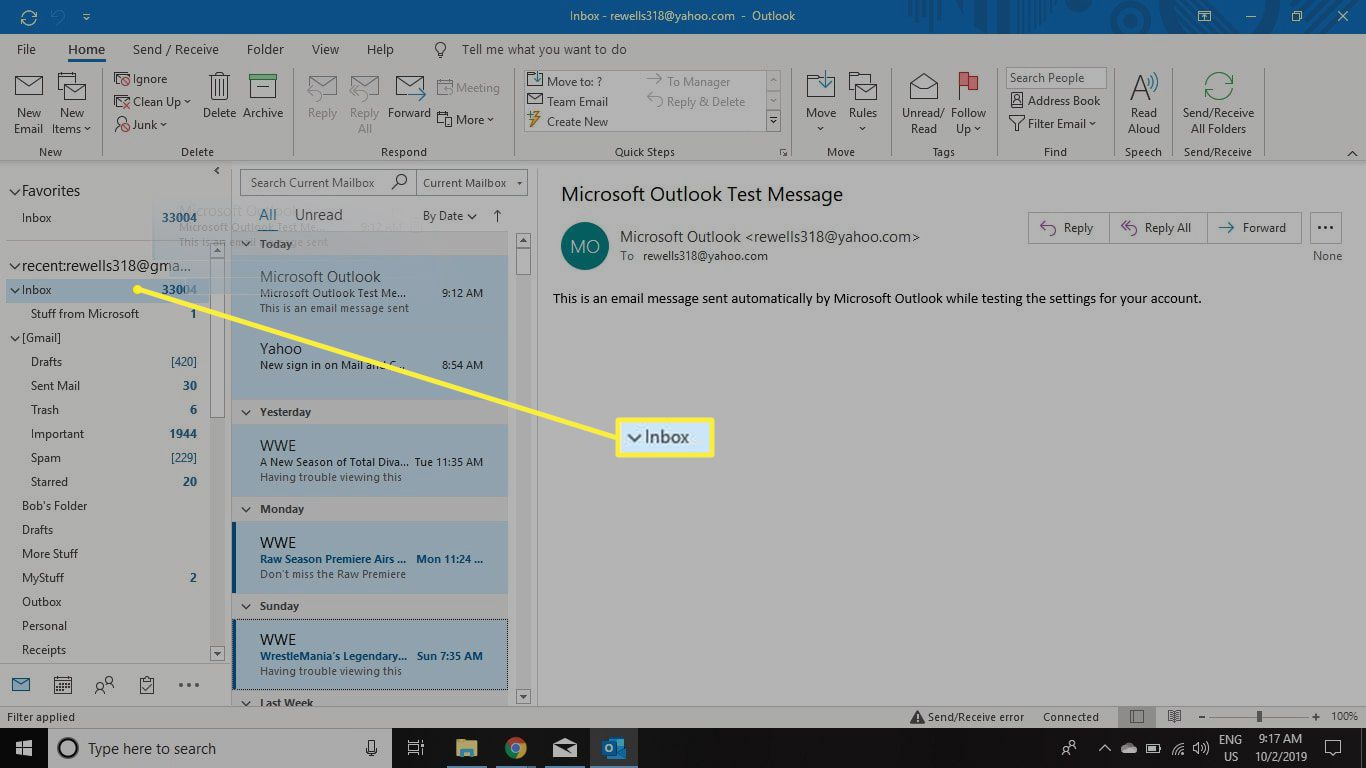 move messages to folder