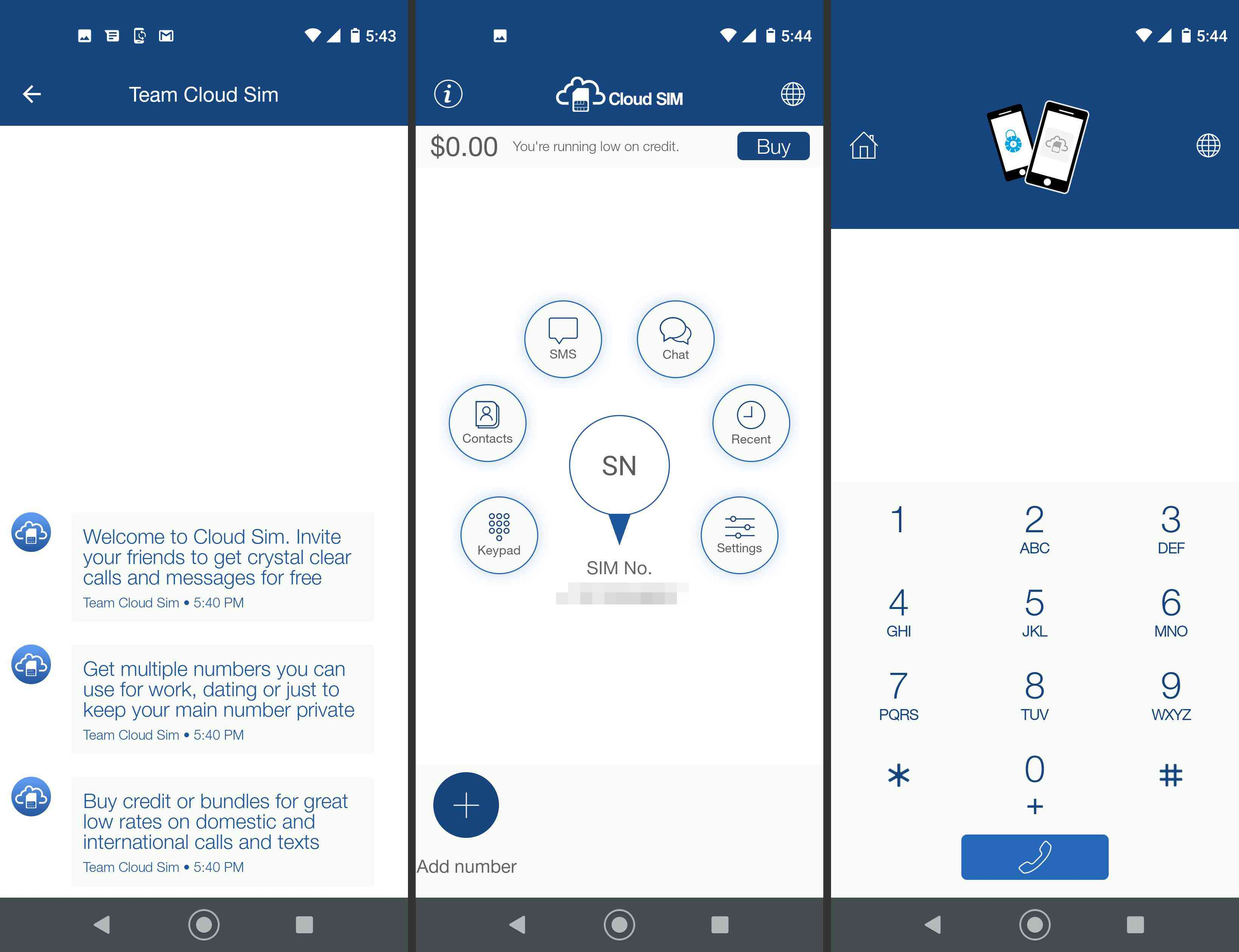 Cloud Sim app on Android