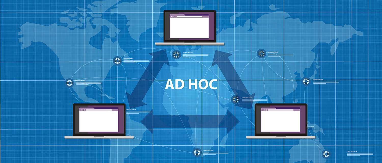 Ad hoc network topology peer device connection.