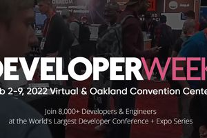 DeveloperWeek 2022 banner.