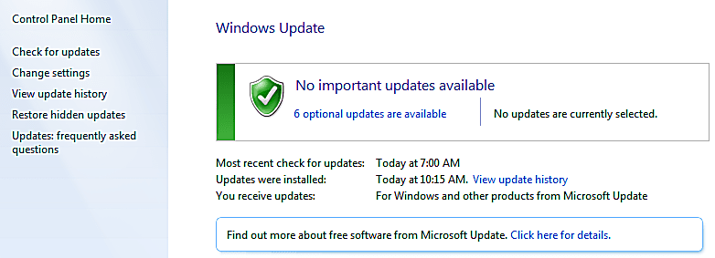 Windows 7 update | How to Manually Check for Windows 7