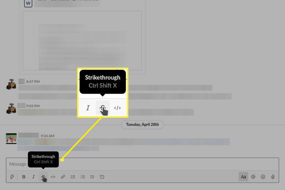 The Strikethrough Format's Keyboard Shortcut