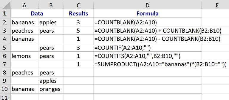 excel function count cell with text
