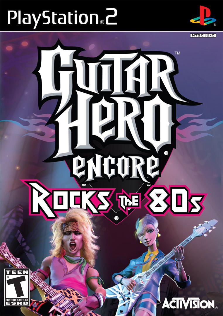 Guitar Hero Encore: Rocks the 80s PS2 box shot