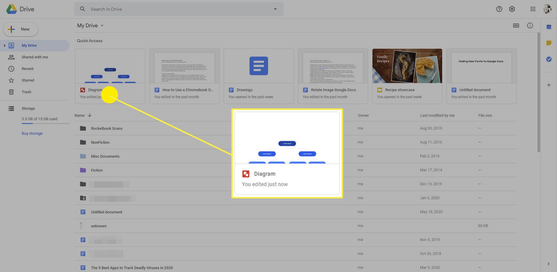A Google Drawing saved in Google Drive.