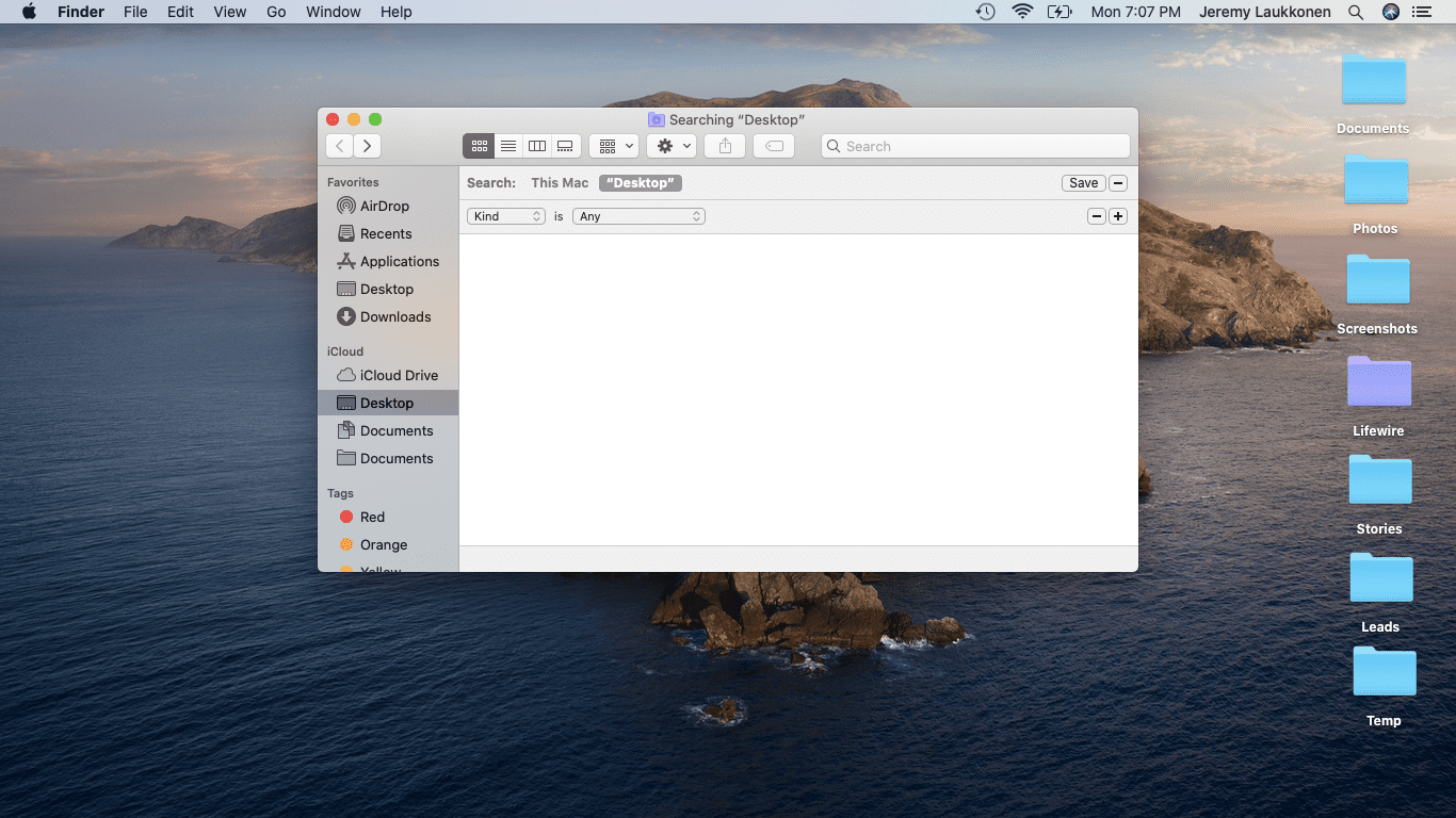 A screenshot of a macOS search.