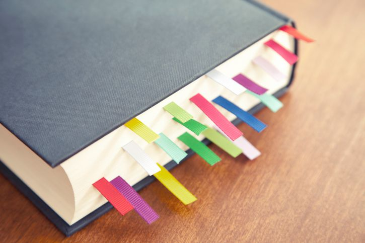 Bookmarks in a Book