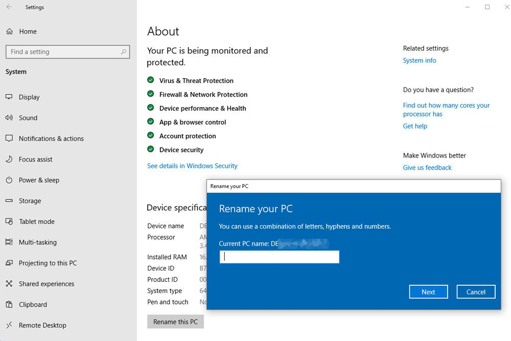 How to Change a Computer Name in Windows