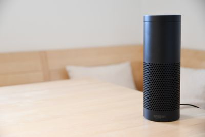 Amazon Echo on a table