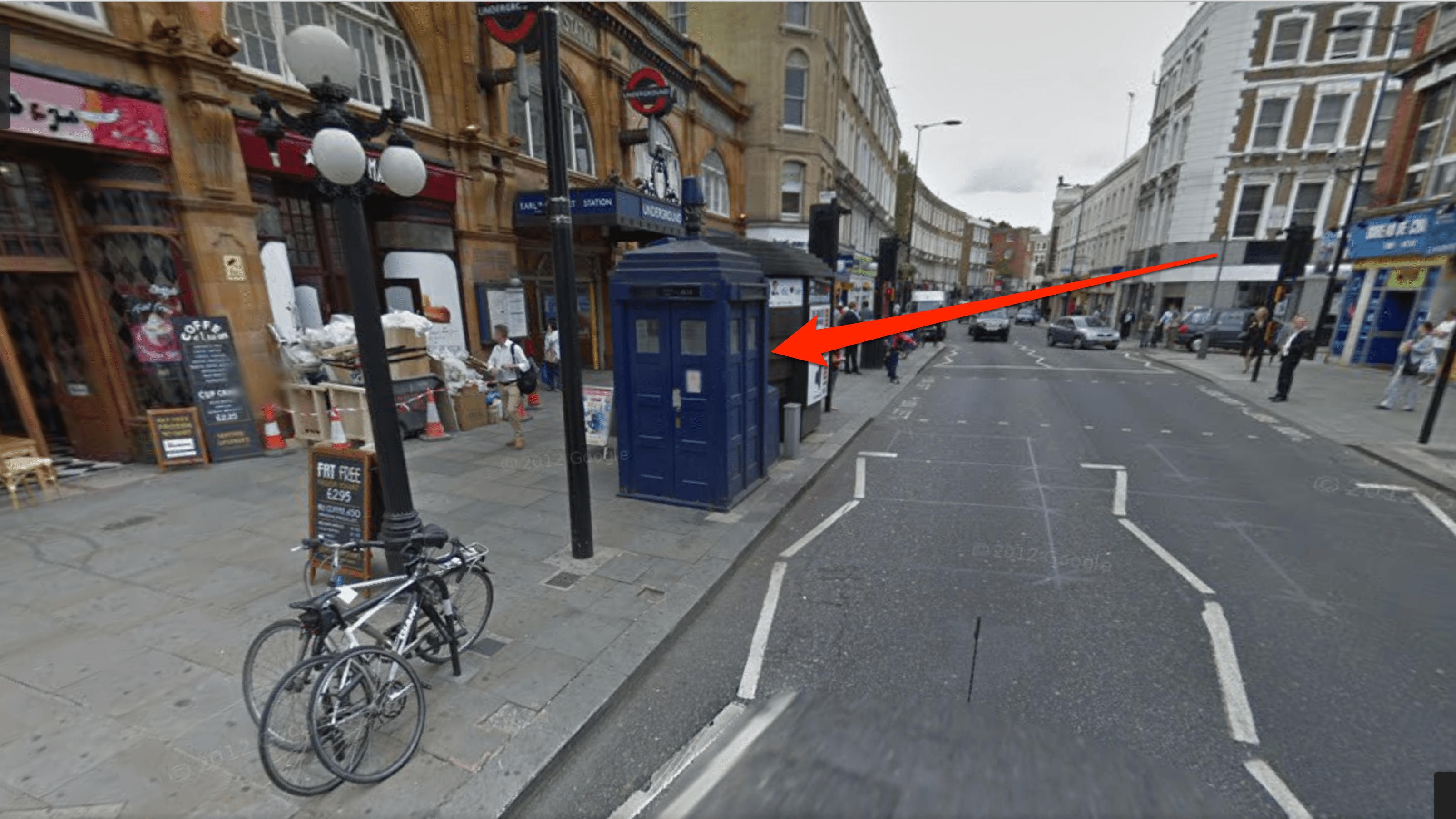 How to Find the 'Doctor Who' TARDIS in Google Maps Google Map Sightings on google car sightings, chinese dragon sightings, street view sightings, international space station sightings,