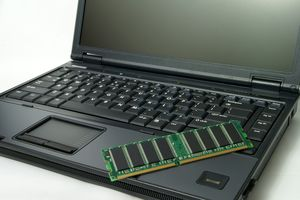 A laptop with RAM.