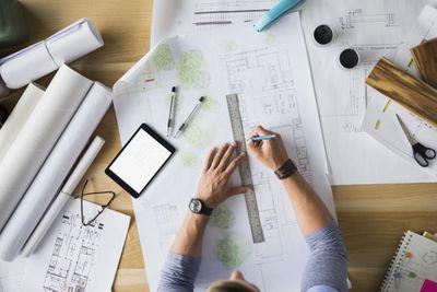 Architect and Blueprints