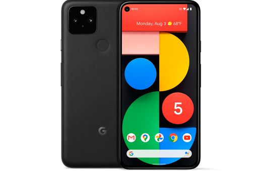 Pixel 5 front and back view.