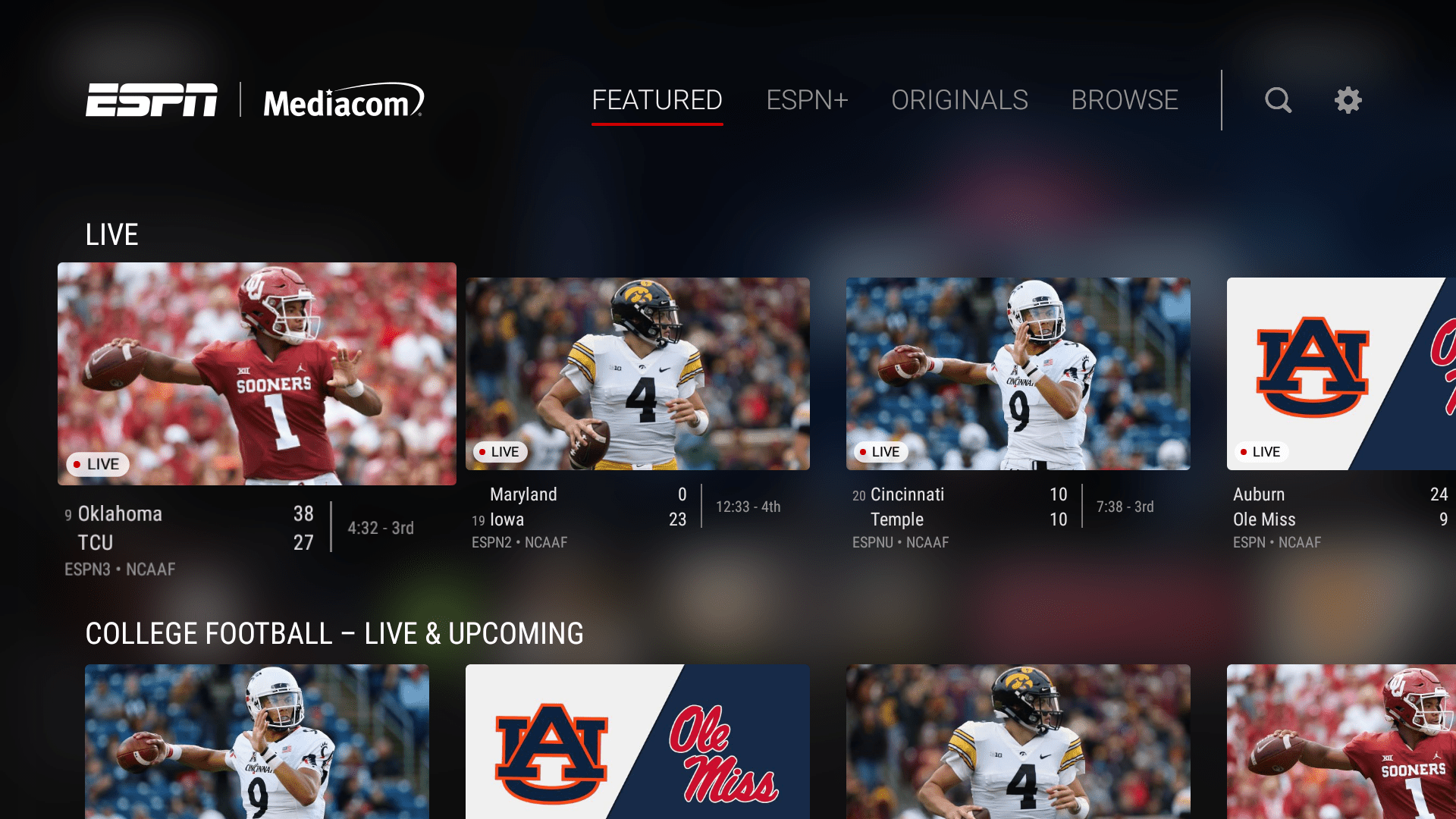 ESPN app on Fire TV.