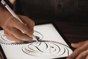iPad and Apple pencil drawing
