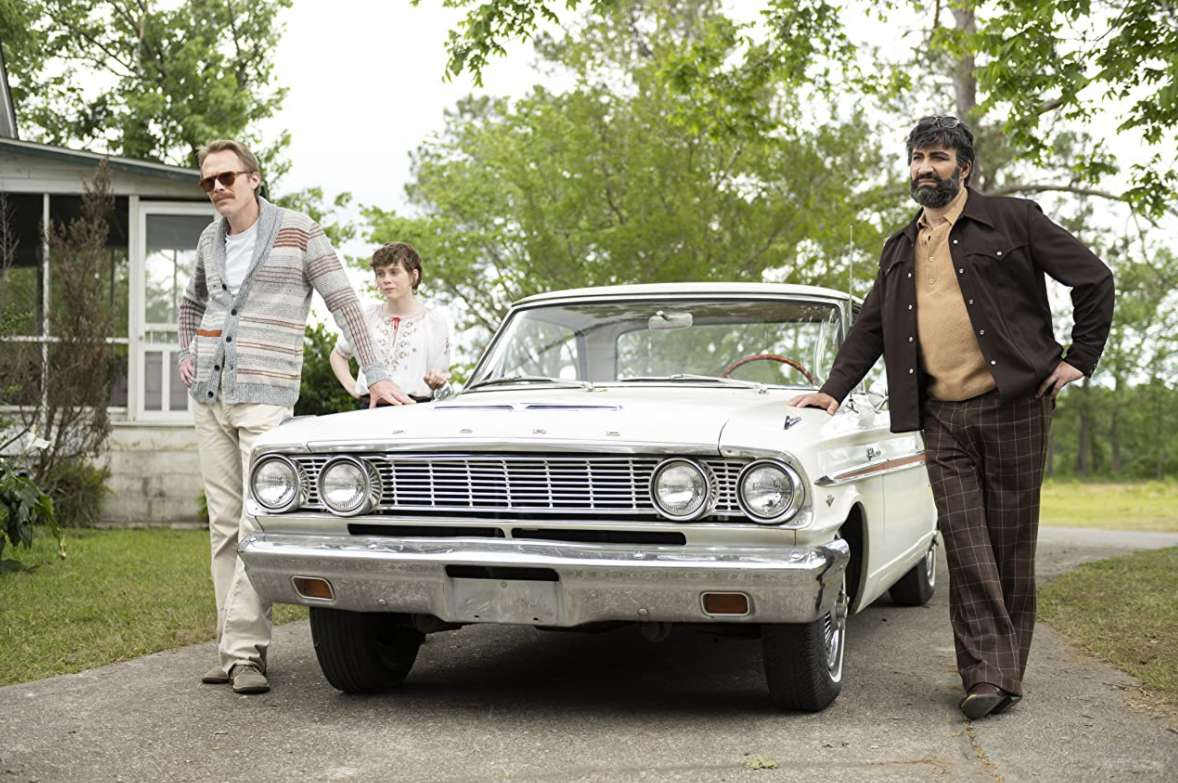 Paul Bettany, Peter Macdissi, and Sophia Lillis in 'Uncle Frank.'