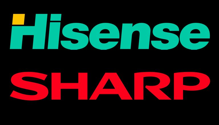 Hisense and Sharp logos