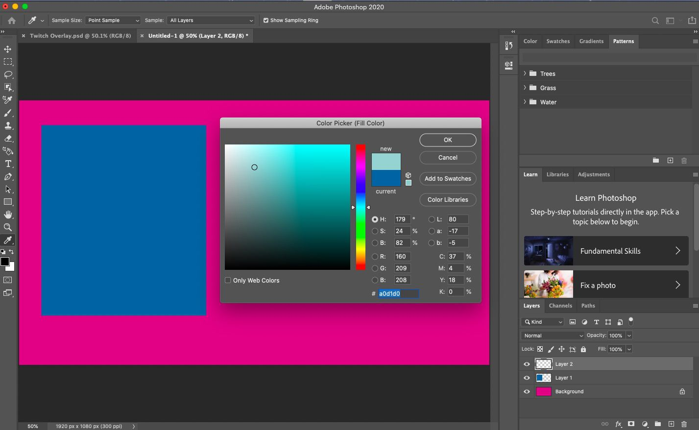 Create a new layer and add new fill color