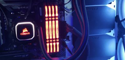 Ballistic RAM installed in motherboard