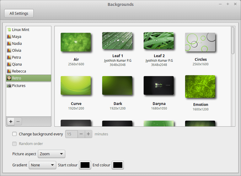 Change Linux Mint Cinnamon Wallpaper