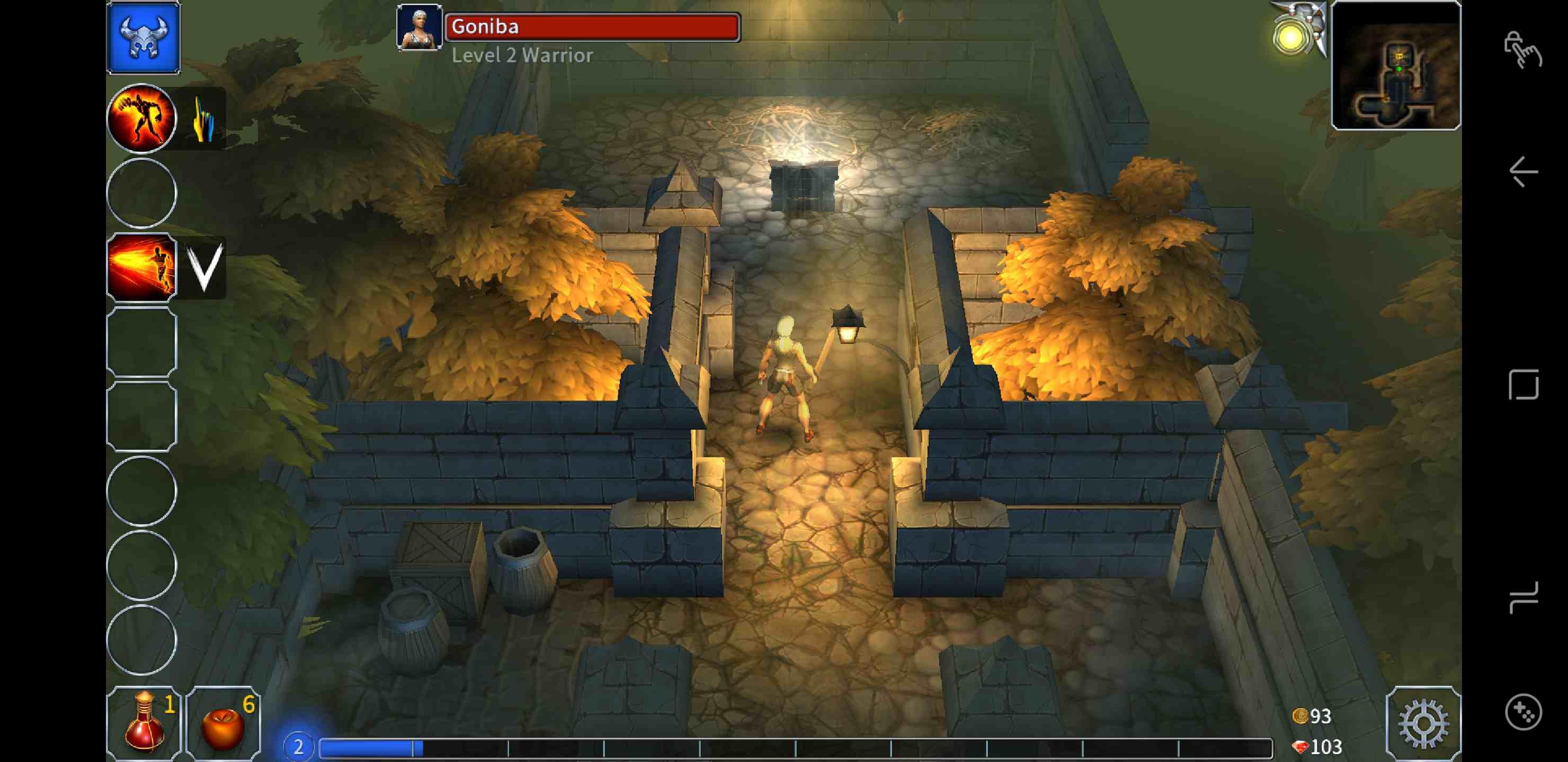 A Screenshot of the Eternium RPG for Samsung Galaxy Note 9.