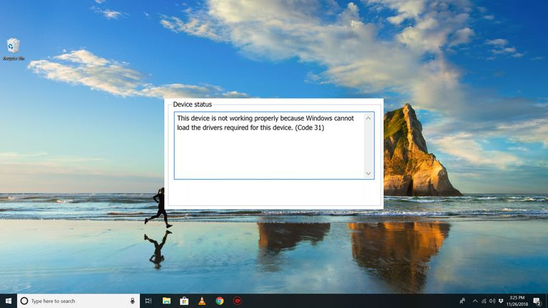 Code 31 error on Windows 10 desktop