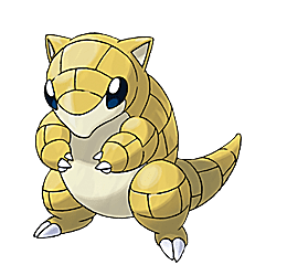 Sandshrew - Ken Sugimori's Official Artwork