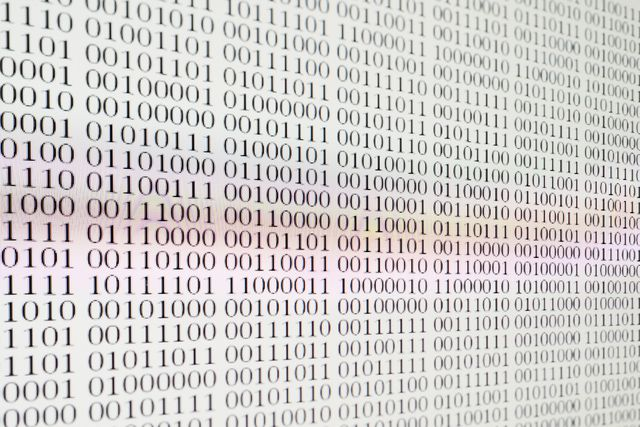 Binary on a screen