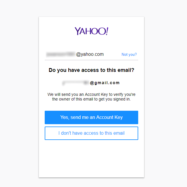 forgot yahoo email username