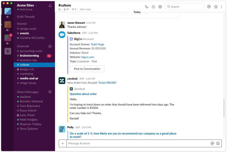 Slack desktop application