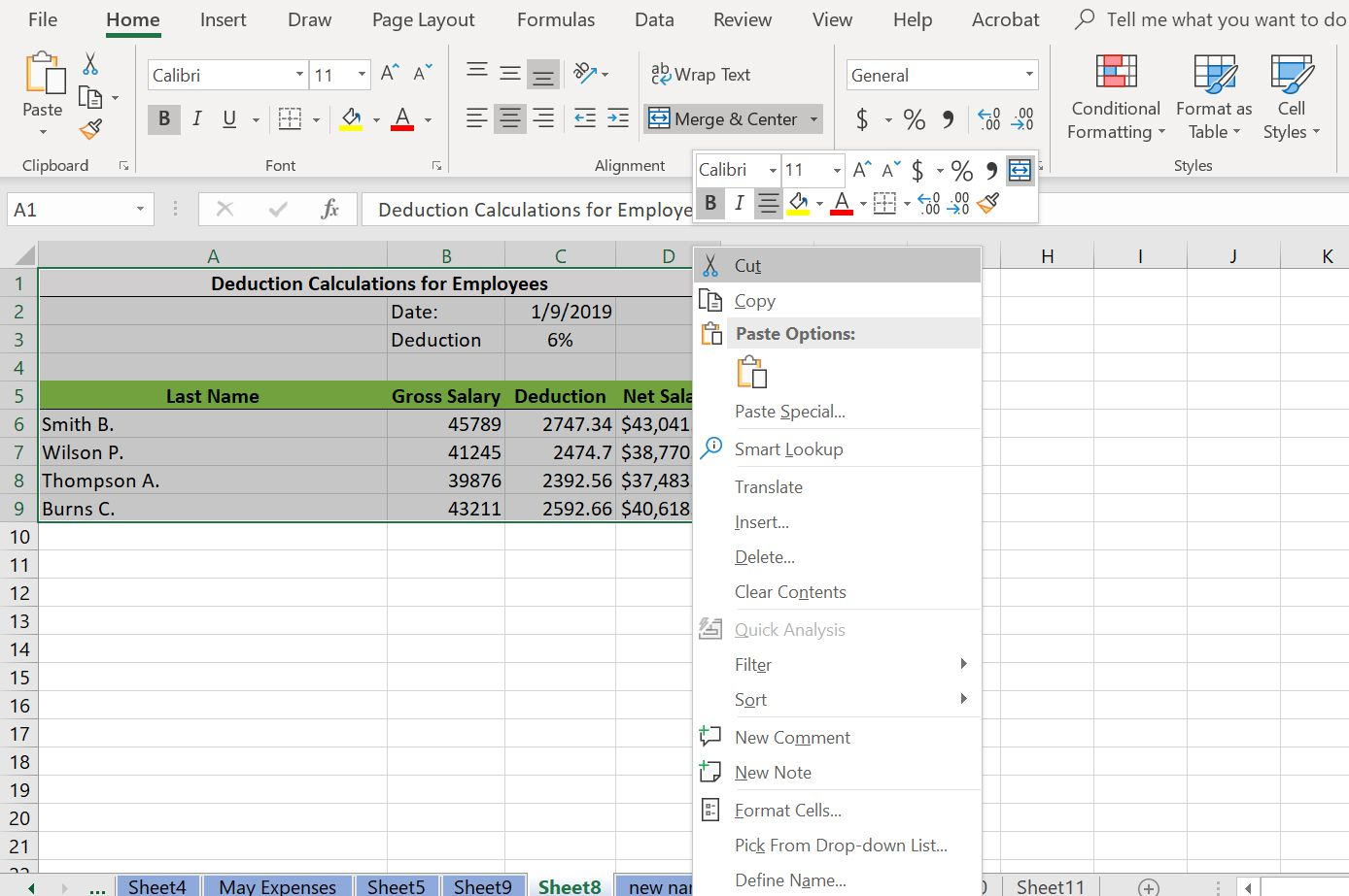 Cut, Copy, and Paste Data in Excel With Shortcut Keys