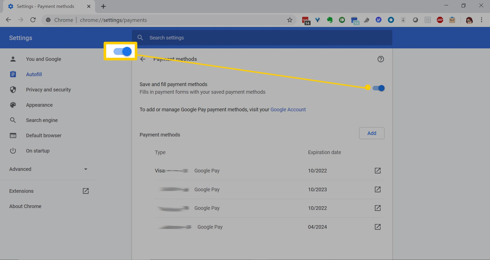 How to Manage Chrome Autofill Settings