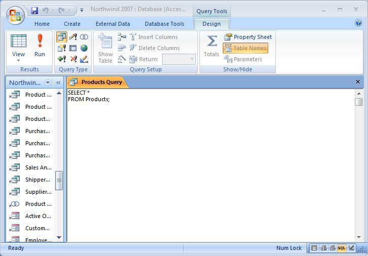 microsoft office query tools