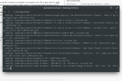 The Linux Zip Command