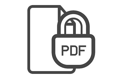 Picture of a PDF lock icon